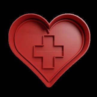 Cortante para galletita Forma de Corazón con Cruz