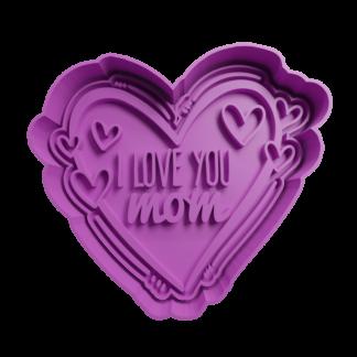 Cortante de Corazón día de la Madre Corazón I love you Mom