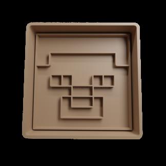 Cortante para galletitas de Cara de Minecraft