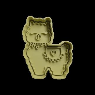 Cortante para galletita forma de Alpaca
