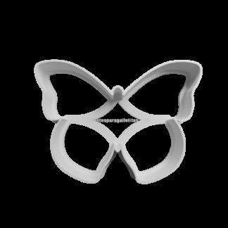 cortante de galletita de mariposa contorno 8