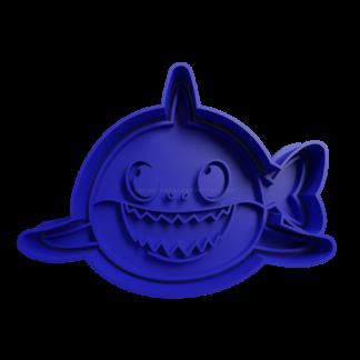 cortante de babyshark tiburon con cola