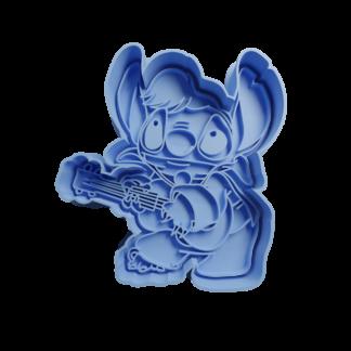 Cortante para galletita Forma de Stitch Elvis de Lilo y Stich