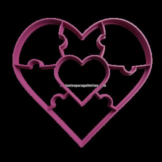 rompecabezas con forma de corazon
