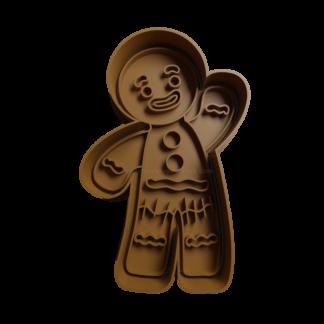 Cortante 3D de muñeco de jengibre de shrek