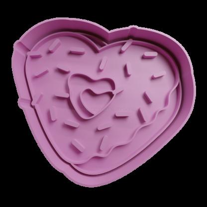 Cortante de dona corazon
